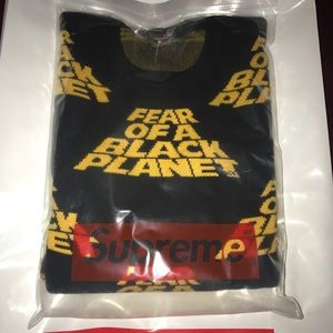 Supreme fear of a black planet sweater